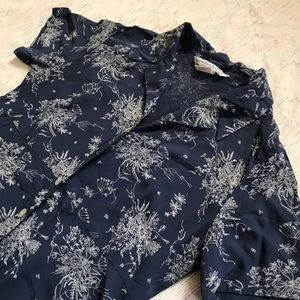 Vintage Dresses - Vintage Collared Button Down Dress Size 8